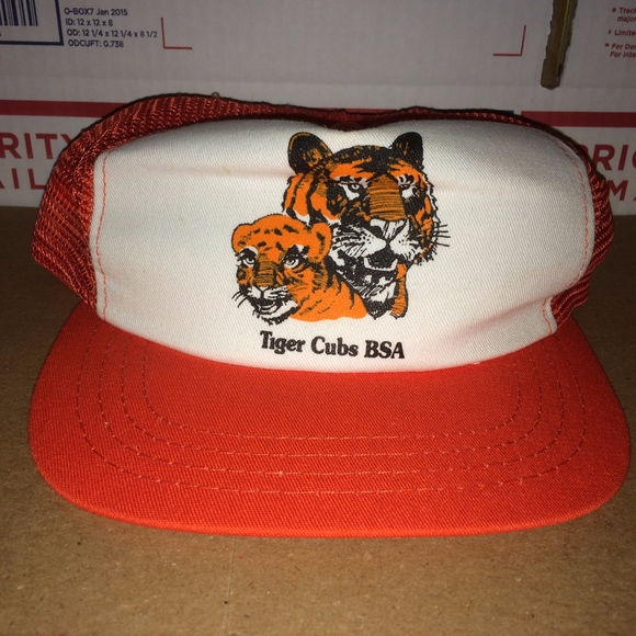 Tiger Cubs bsa Cub Scouts Boy Hat Cap Mesh Trucker